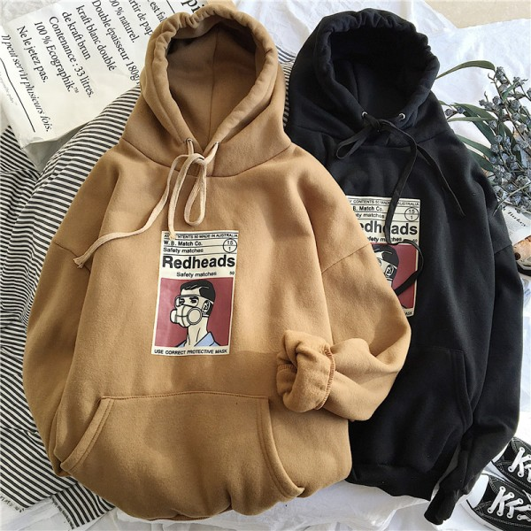 Plus Size Sweatshirts Women Long Sleeve Oversize Hoodie Clothes Warm Hoody Streetwear Tops