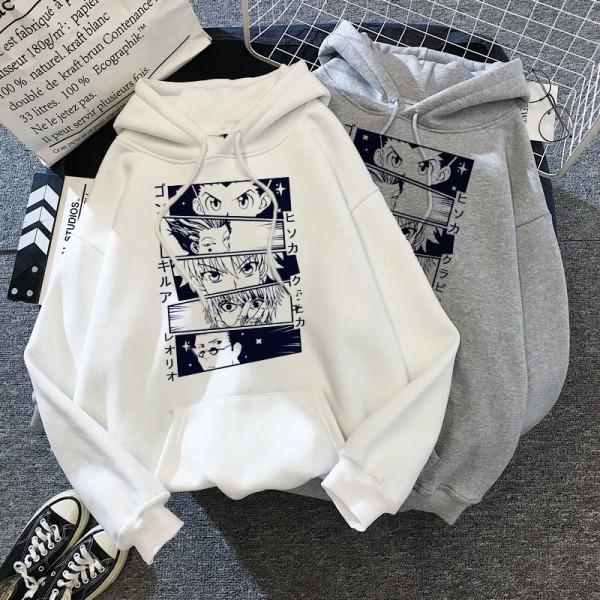 Men/Women Japanese Anime Manga Kawaii Hunter X Hunter Hoodies  Short Sleeve Sweatshirt