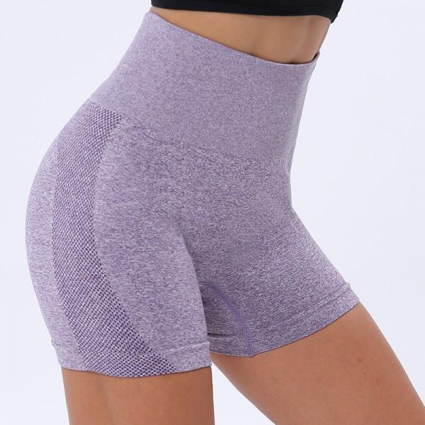 Women Seamless Shorts High Waist Fitness Shorts Slim Workout Short Pants