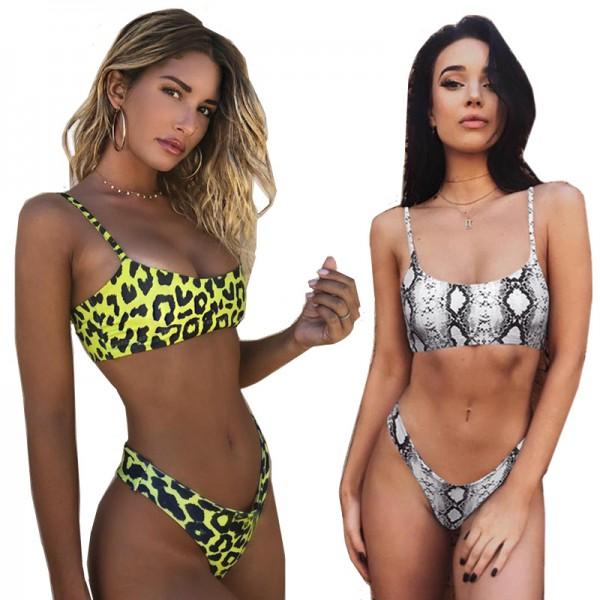 Snakeskin Bikini suit Women Leopard Sexy Biquini Swimsuit Beachwear