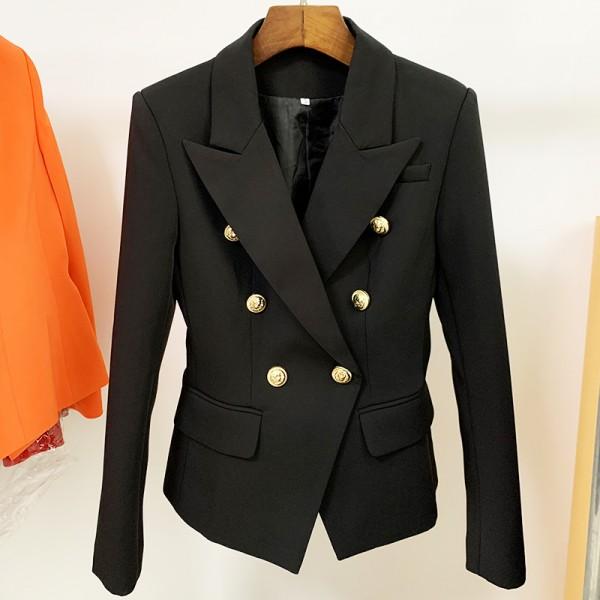 New Fashion Designer Blazer Jacket Women's Classic Double Breasted Blazer