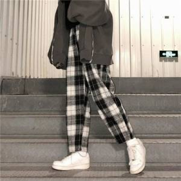 Plaid Pants  Women Trousers Streetwear Woman Harem Pants Autumn Ladies Causal Pants
