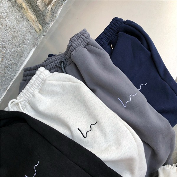 Women Casual Loose Korean Style Thick Sweatpants New Trousers