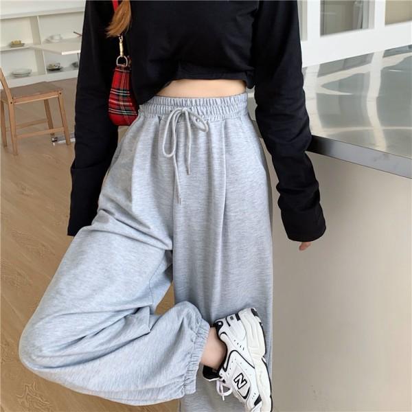 Women New Baggy Oversize Sports Pants Trousers Joggers Streetwear