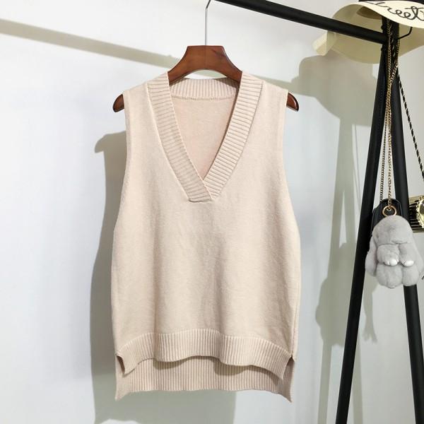 Autumn and winter new Korean loose wild sweater vest sleeveless sweater