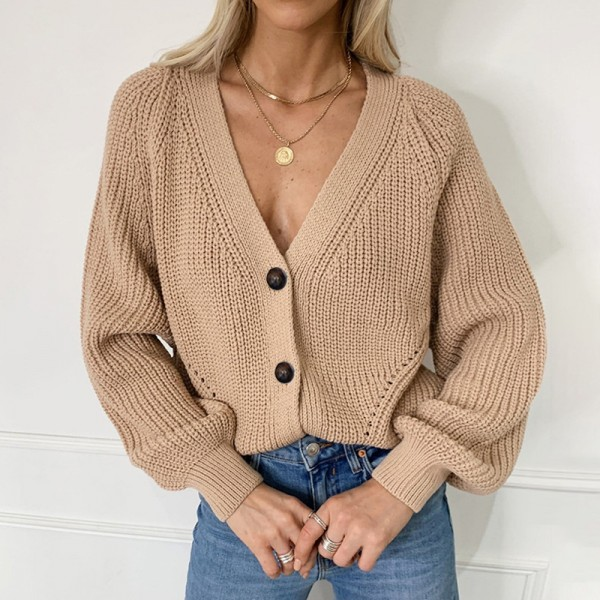Women Knitted Cardigans Sweater Fashion Autumn Long Sleeve Loose Coat