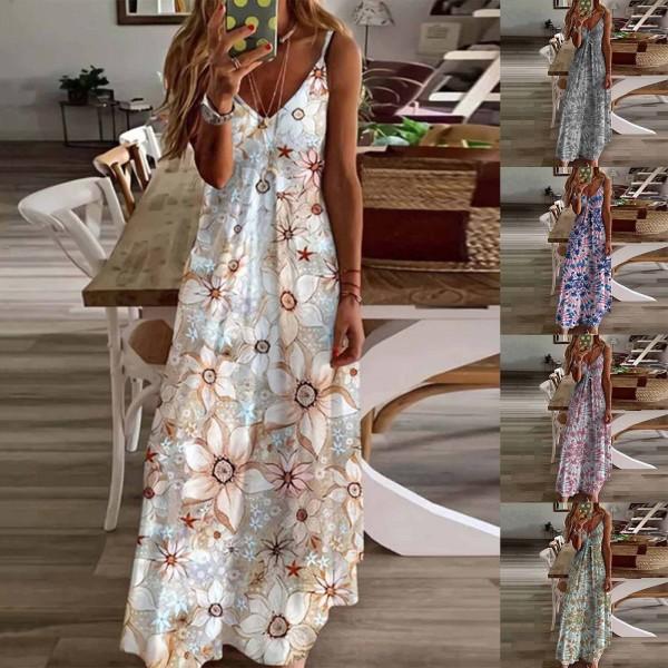 Summer New Women Elegant Vintage Sexy Backless Party Beach Dress
