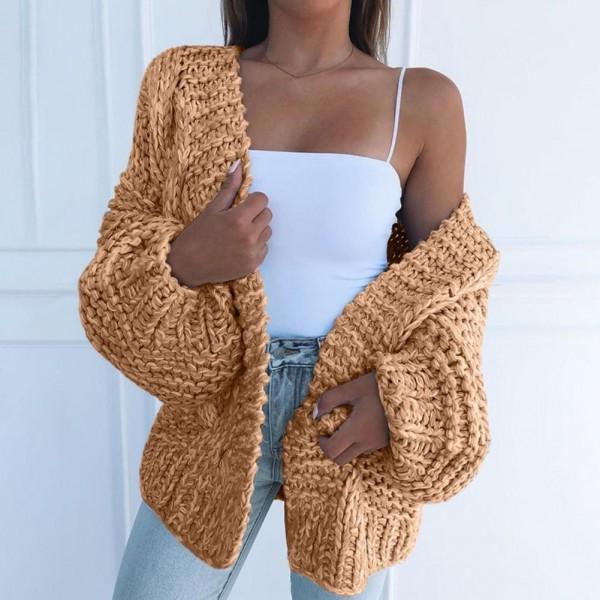 Women Casual Long Cardigan Warm Casual Knitting Sweater